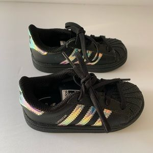 Adidas Superstar Iridescent Sneakers-Worn Once!